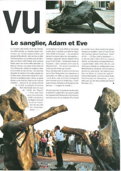 Les sculptures monumentales de Paul Rebeyrolle