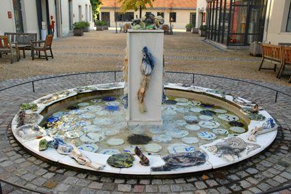 Une fontaine chez Bernardaud